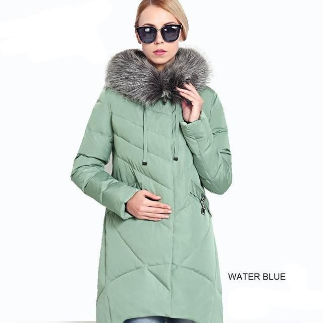 f8c8a944e9a 2018 New Winter Women s Coat Plus Size Hooded Fashion Warm Women Down Jacket  High-quality Biological-Down Female Parkas Ceprask