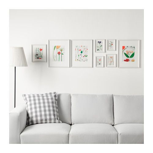 KNOPPÄNG Frame with poster, set of 8 - IKEA | h.O.m.E | Pinterest