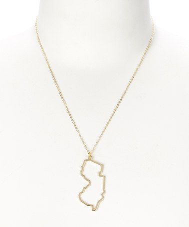 Love this gold new jersey outline pendant necklace on zulily love this gold new jersey outline pendant necklace on zulily zulilyfinds aloadofball Image collections