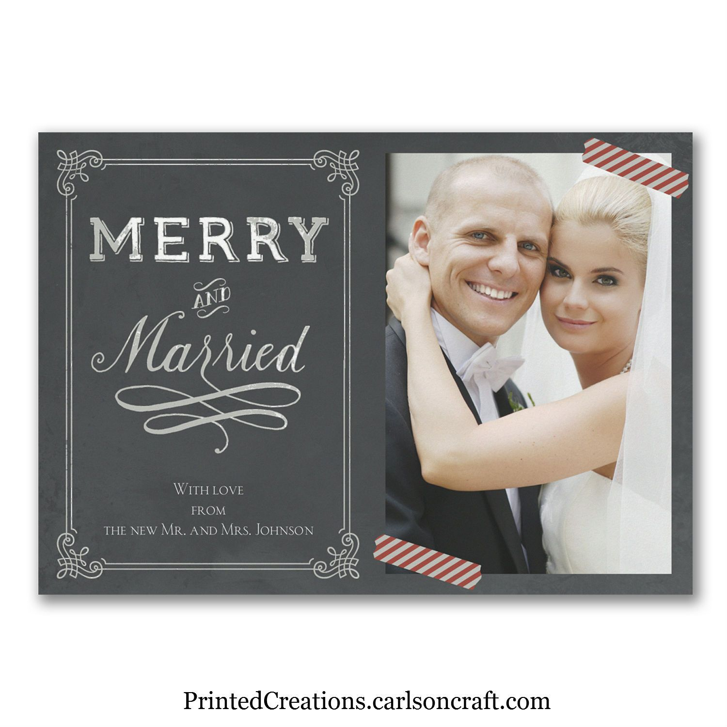 Sending this Merry and Married Christmas card is the perfect way to ...