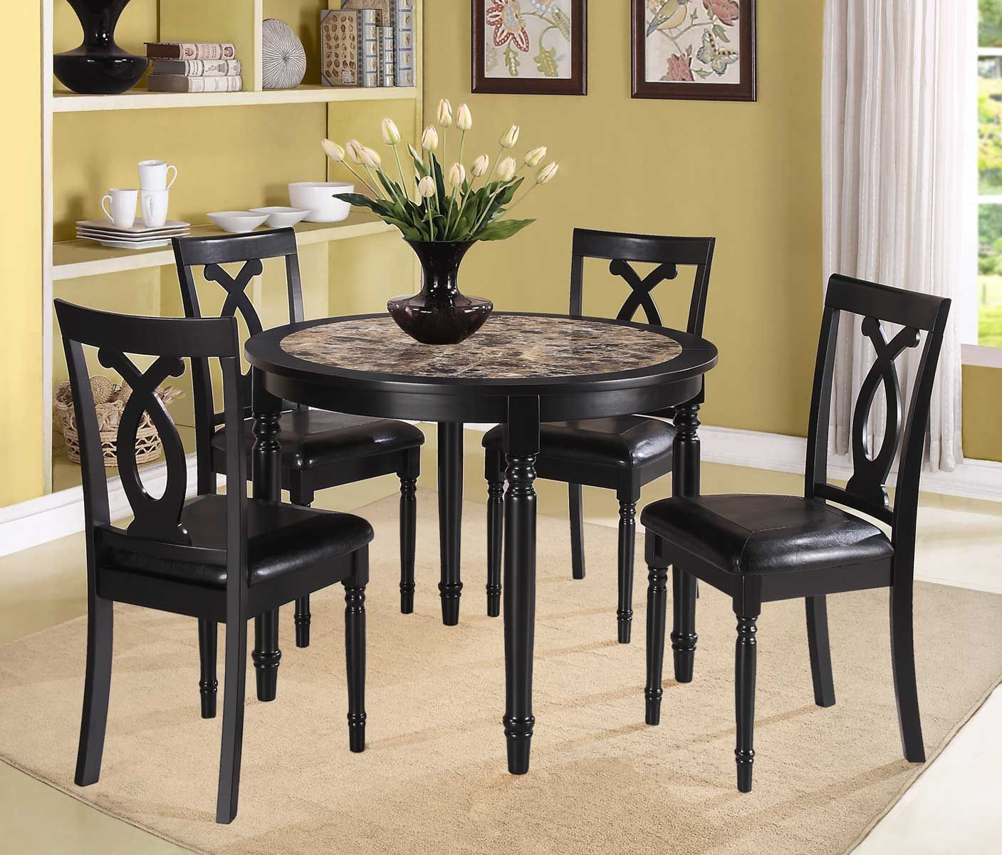 Dinette Set Dining Room Table Set Small Round Kitchen Table Round Dining Room