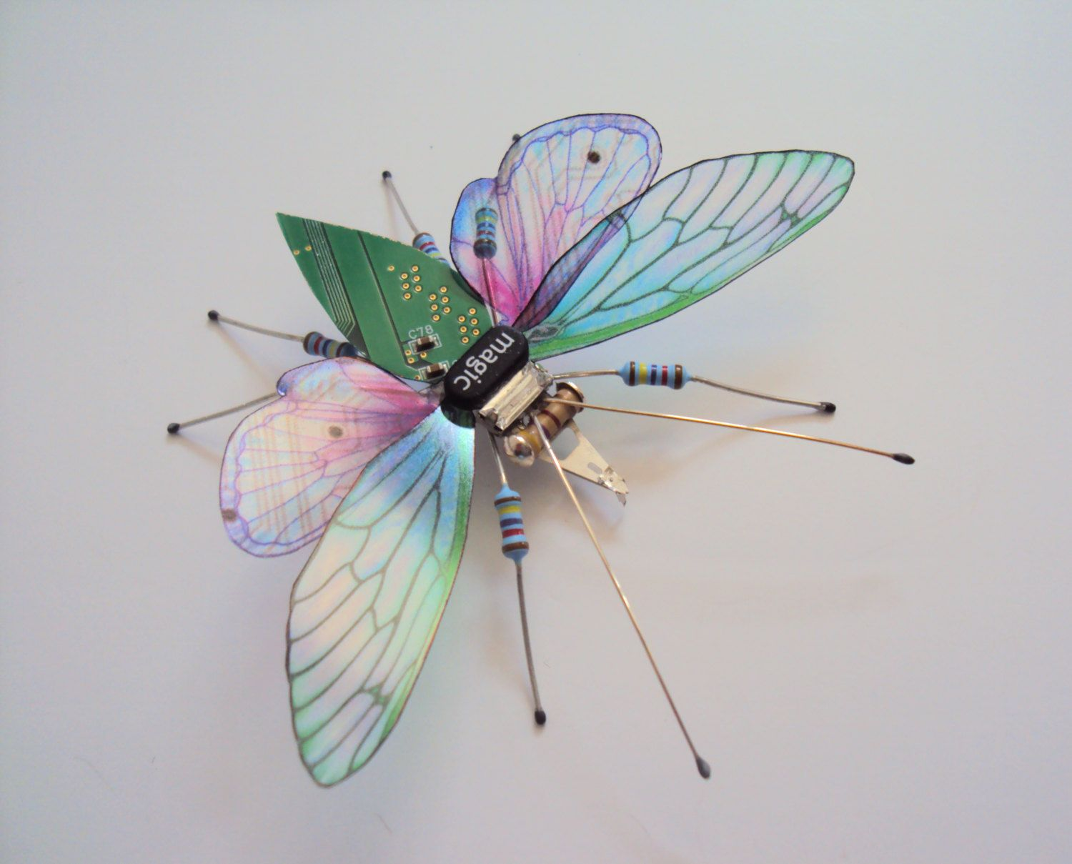 The Magic Bug Circuit Board Insect By Julie Alice Chappell Boards Like Appears Dewleaf On Etsy