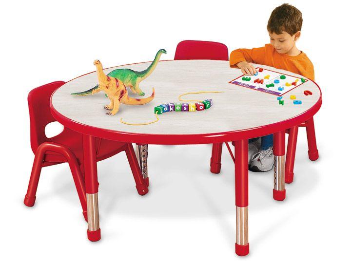 Round Kids Colors Adjule Tables