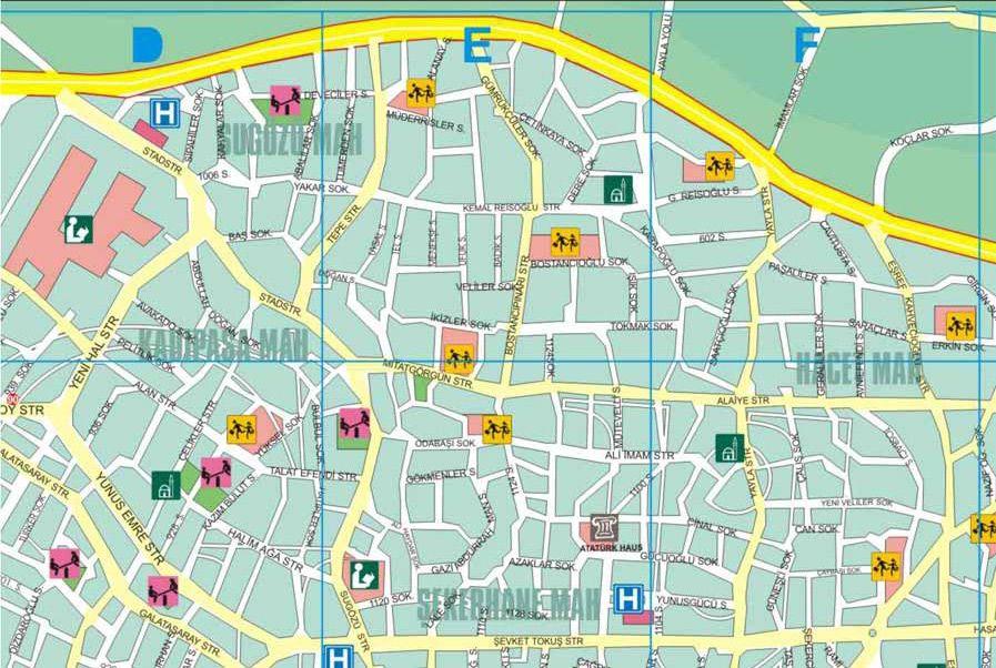 Kort Over Alanya I Tyrkiet Delkort Nr 2 Med Billeder