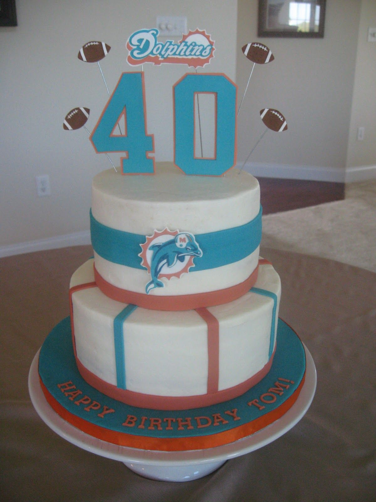 Stuff By Stace Miami Dolphins Birthday Cake Food Pinterest