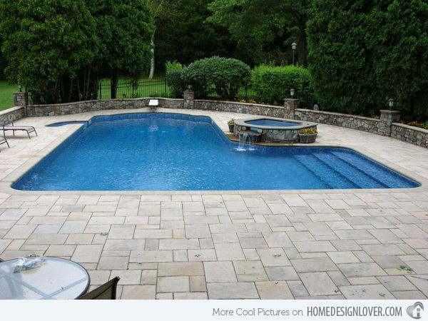 15 Lazy L Swimming Pool Designs Home Design Lover Inground Pool Designs Cool Swimming Pools Pool Landscaping