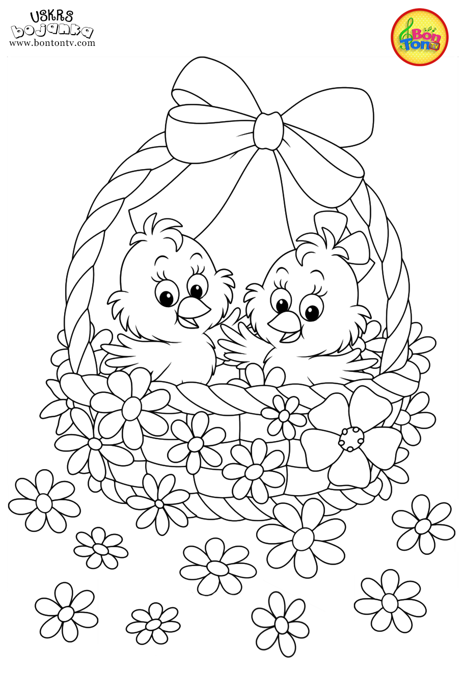 Easter coloring pages uskrs bojanke za djecu free printables easter bunny eggs chicks and more on bonton tv coloring books uskrs bojanke easter