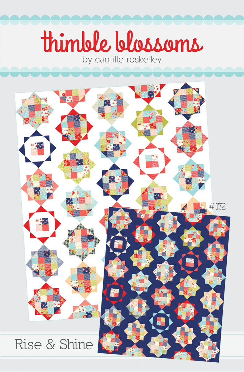 """pattern #172 60"""" x 72"""" quilt 12"""" block Materials Needed: * 1 Layer Cake OR 1 Jelly Roll + 2 strips 2.5"""" x WOF * 4 Fat Quarters for outer points * 3..."""
