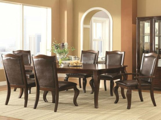 A modern design with a classic twist, the Louanna dining room