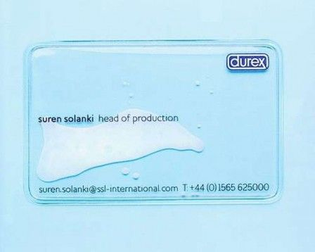 Clever business card for durex a company that makes condoms its a clever business card for durex a company that makes condoms its a clear plastic colourmoves