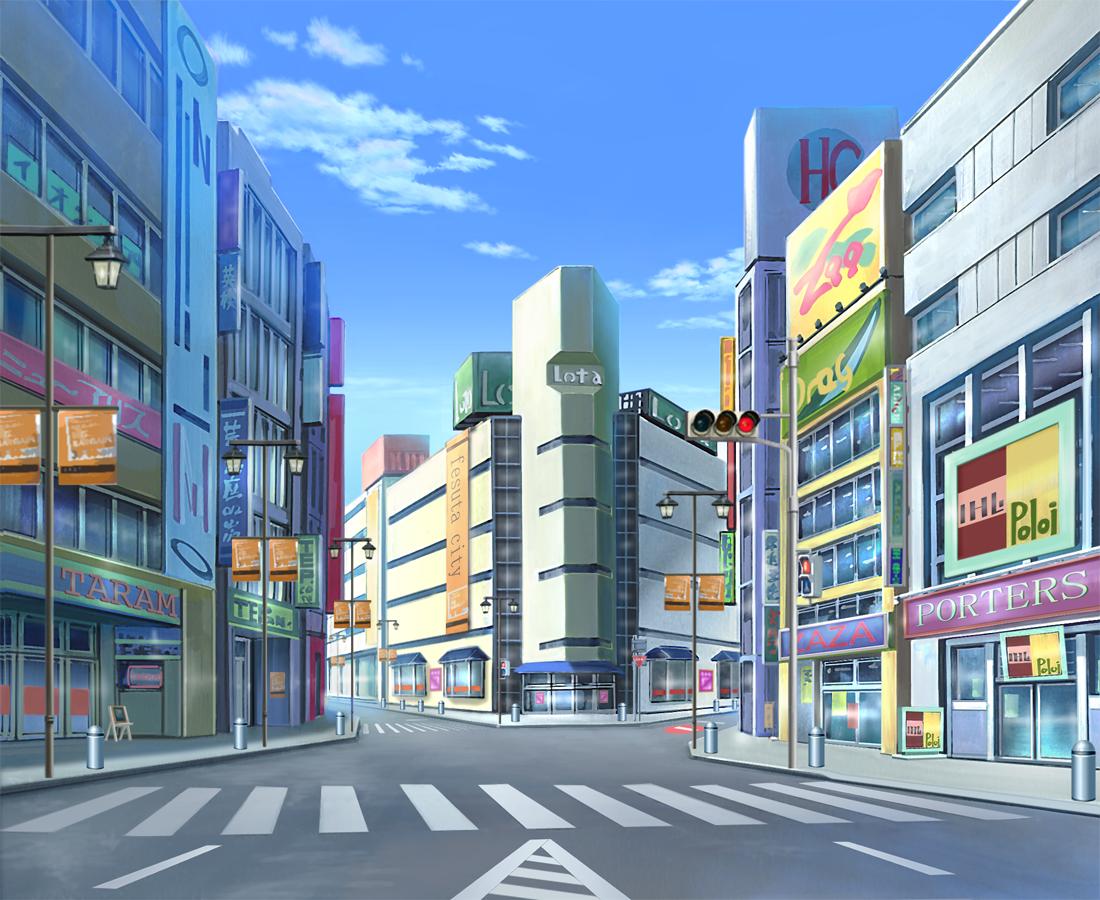 Anime City reference Anime scenery, Scenery background