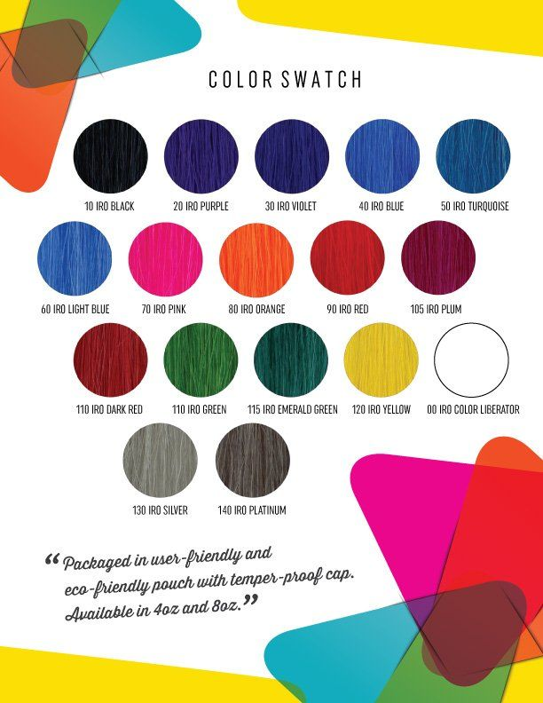 Iroiro Semi Permanent Hair Colors Swatch Semi Permanent Hair Color Permanent Hair Color Hair Color Swatches