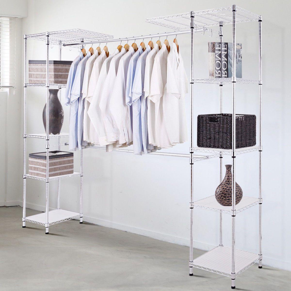 Details About Expandable Closet Organizer Free Standing Clothes