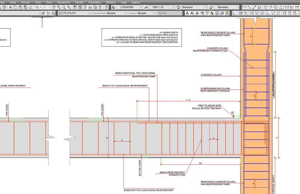 Reinforced Concrete Beam Column Multistorey Frame Connections Nel 2020 Progettazione