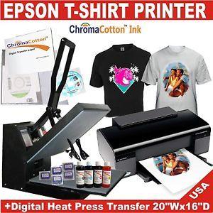 T shirt heat transfer press 20 x 16 epson printer t for Epson t shirt printer