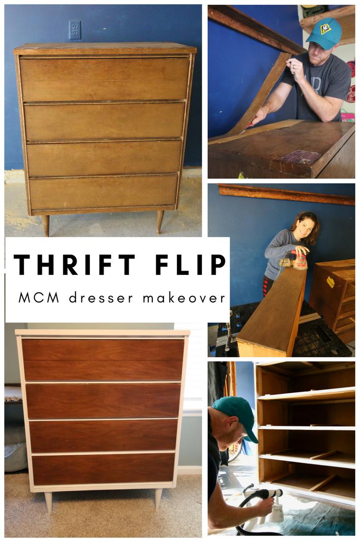 Best Thrift Flip 70 Mid Century Modern Dresser Makeover Mid 640 x 480