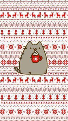 my work❄ pusheen christmas wallpaper winterpusheen in