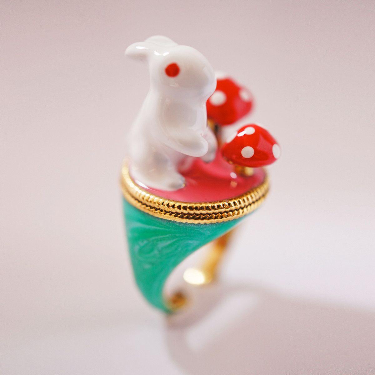 eu.Fab.com | Wild Rabbit Ring Emerald Green