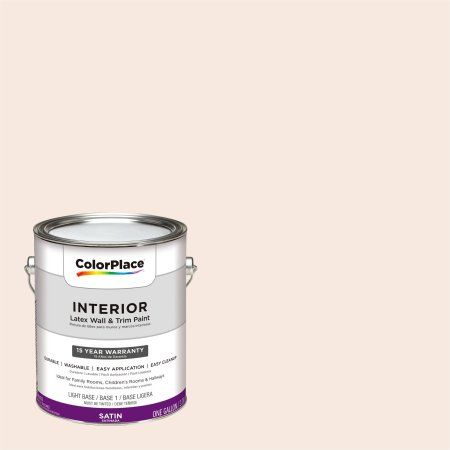 ColorPlace, Interior Paint, Adorable Peach, #99YR 85/075, Satin, 1 Gallon, Orange