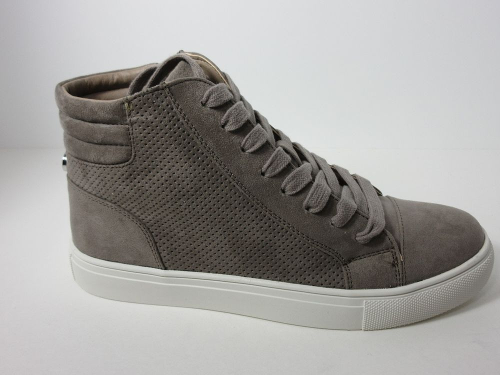 STEVE MADDEN 'DEMMIE' HIGH TOP PERFORATED SNEAKERS GRAY WOMENS SIZE 8.5  SHOES