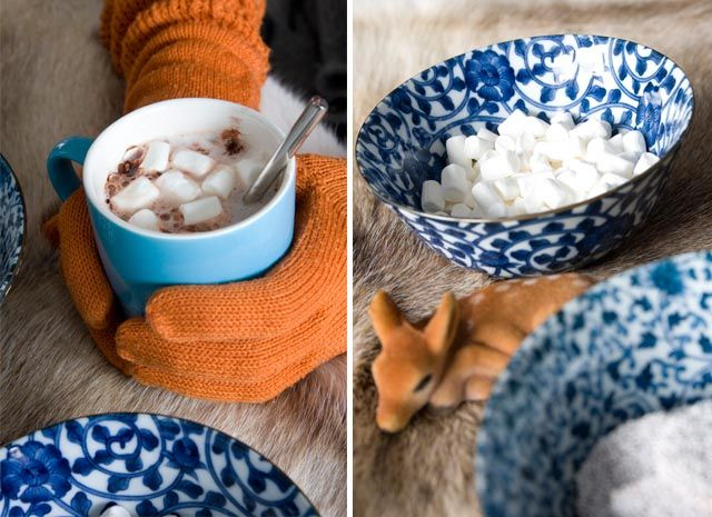 Hot chocolate and marshmallows!