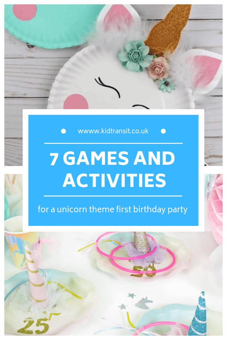 Photo of 7 Geburtstagsfeier-Spiele für ein Einhorn-Thema erste Geburtstagsfeier #unicornparty #b …