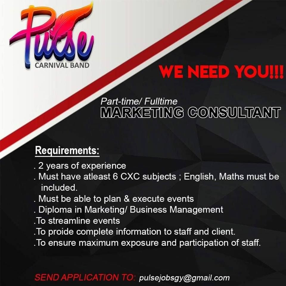 Pulse Carnival Band Is Seeking A Marketing Consultant Click Link