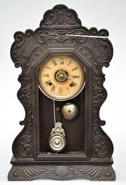 dad6d6e5a33 ANSONIA - Antigo relógio de mesa   parede amricano