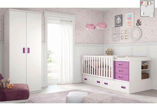 Habitación de bebé con cuna convertible | Novedades de mueble ...