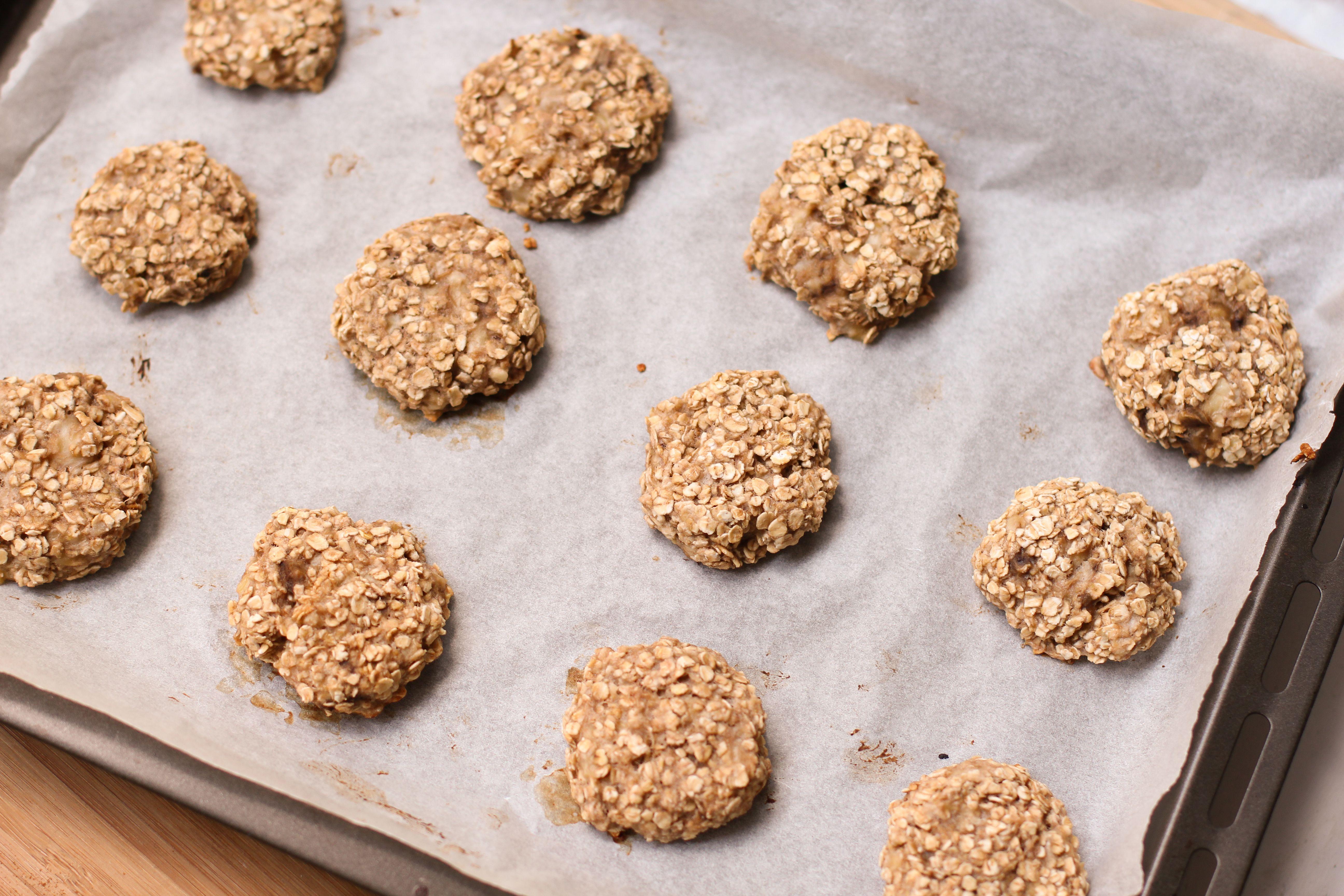cookies aux flocons d'avoine et à la banane (2ingredients)