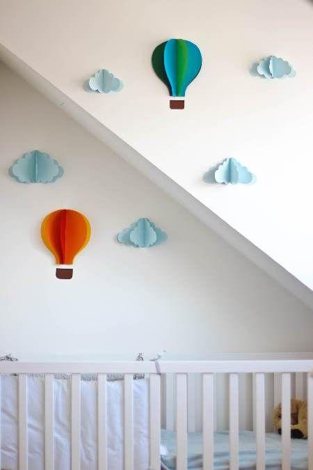 basteln mit papier hei luftballon wanddeko hei luftballon basteln hei luftballon und basteln. Black Bedroom Furniture Sets. Home Design Ideas