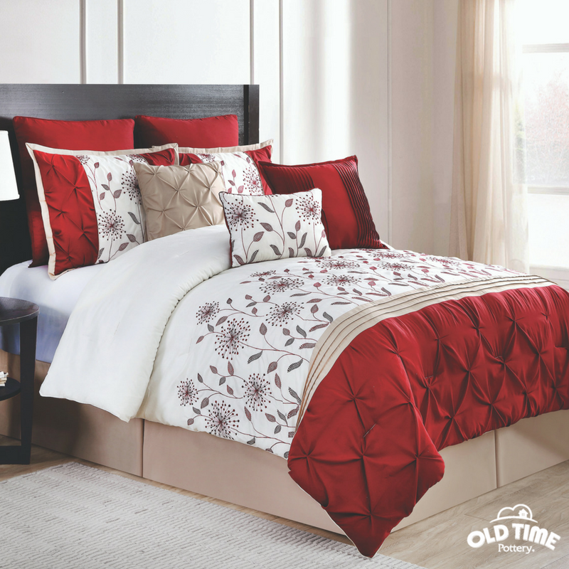 Spruce Up Your Bedding Whether You Re Looking For Something Simple Sweet Or Classy Elegant You Can Find The Perfec Comforter Sets Home Red Comforter Sets