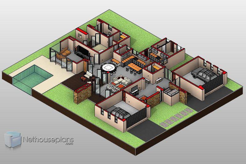 Modern 4 Bedroom House Design | Flat Roof House Plans ...