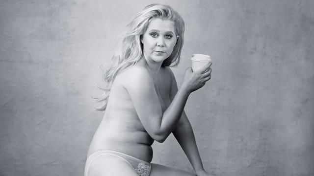 Amy Schumer Poses Nearly Nude For Pirelli Calendar Photo She Calls