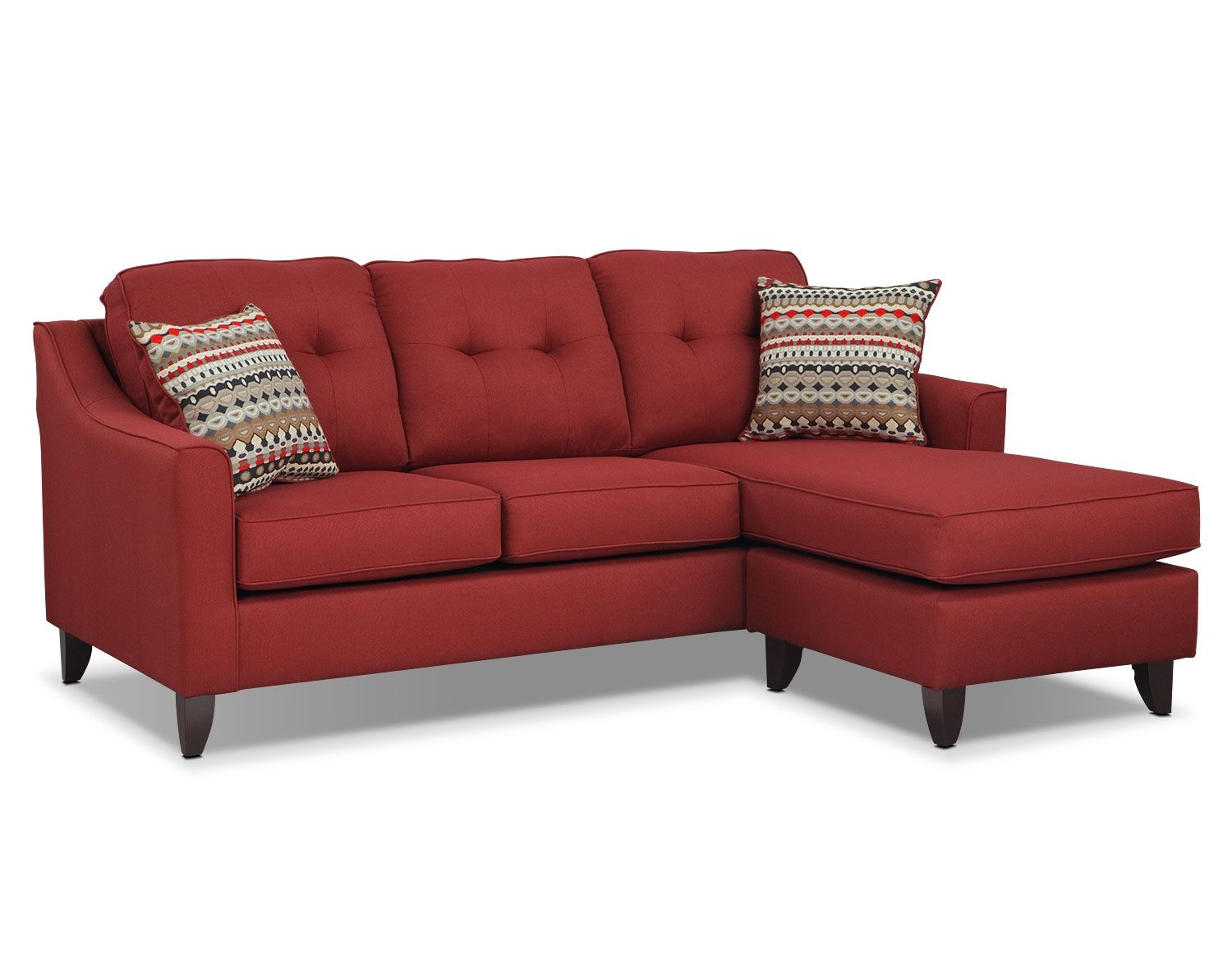 Pleasing Marco Red Sectional Living Room Collection Value City Dailytribune Chair Design For Home Dailytribuneorg