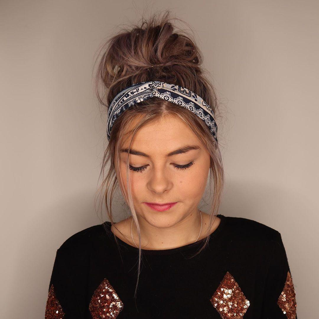 17++ Messy bun with headband ideas in 2021