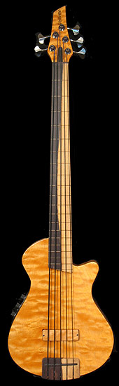 Veillette Custom Paris 5 - Two color Katalox fingerboard and bridge with two color fretlines, Nordstrand pickup, TriColor tuner. I like how the tuners almost look two tone. Are they?