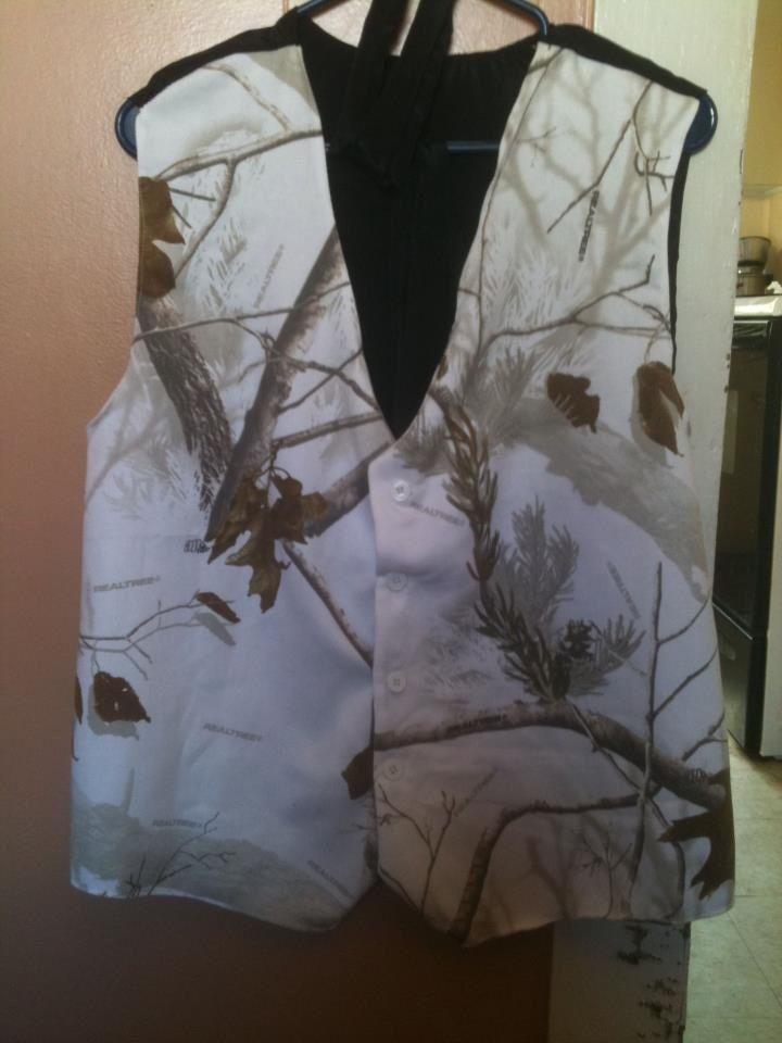 Camo wedding vest