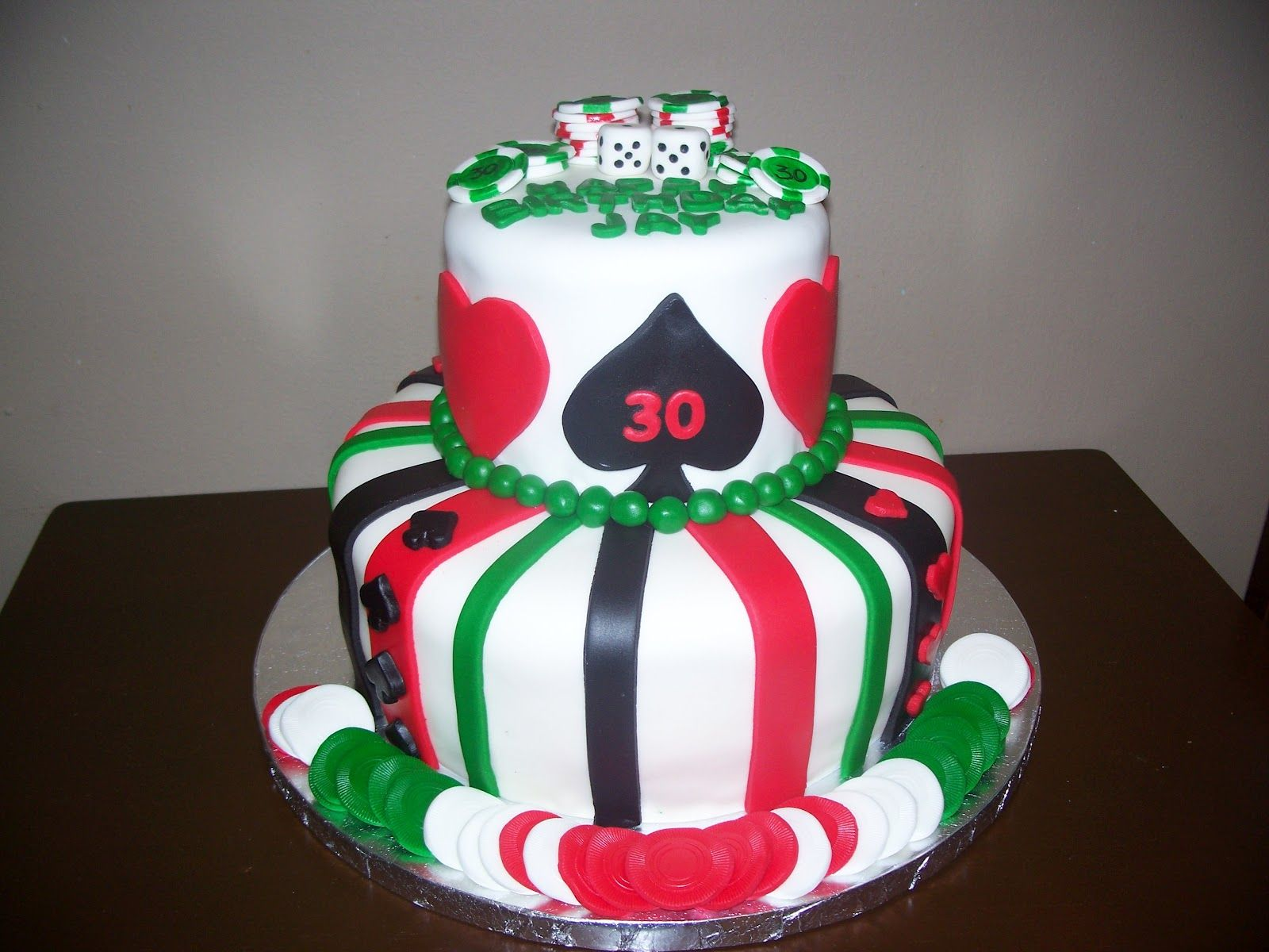 Birthday Cakes for Him SweetDaisyCakes Poker themed 30th birthday