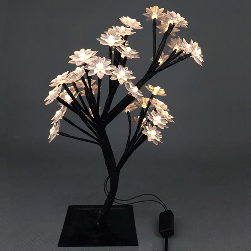 Novelty Luminarias Led Crystal Cherry Blossom Tree Lamp Night Lights Table Lamp Christmas Wedding Decoration Indoor Lighting Wedding Decorations Night Light Tree Lamp