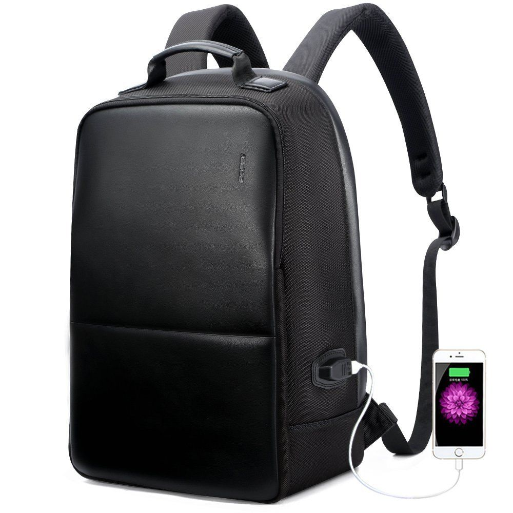 58a259aca2 Amazon.com  Bopai Business Backpack Invisible Anti theft Backpack with USB  Charging Port Travel Rucksack 15.6 inch Laptop  MacBook Pro Water-Resistant  ...