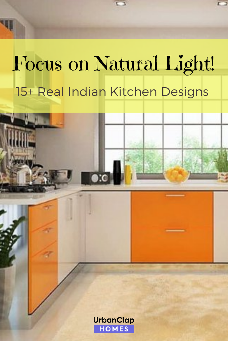 Add A Large Window In Your Kitchen To Bring In All That Natural Light Large Kitchen Window Ideas Kitchen Design Indian Kitchen Design Kitchen Design Images