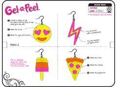 Gel Jewelry Design Templates GelaPeel gelapeel Pinterest