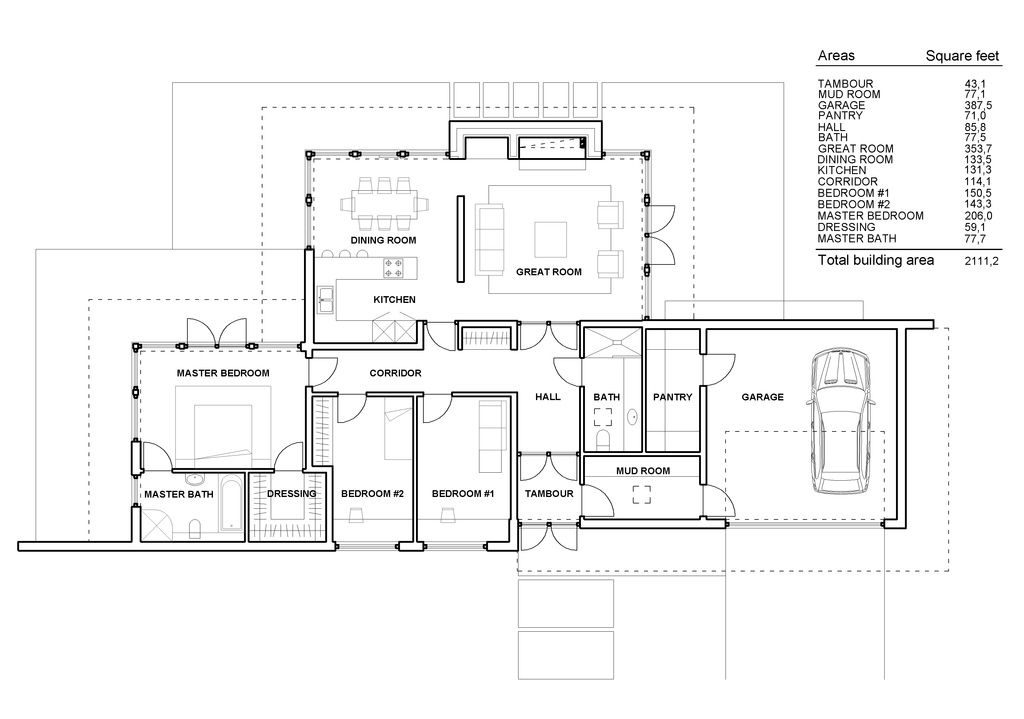 PLAN 5524 wwwhouseplanscom Modern Style House Plan 3 Beds 2