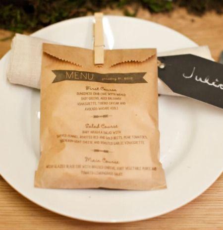 sachet en papier menus cadeaux cadeaux invit s. Black Bedroom Furniture Sets. Home Design Ideas