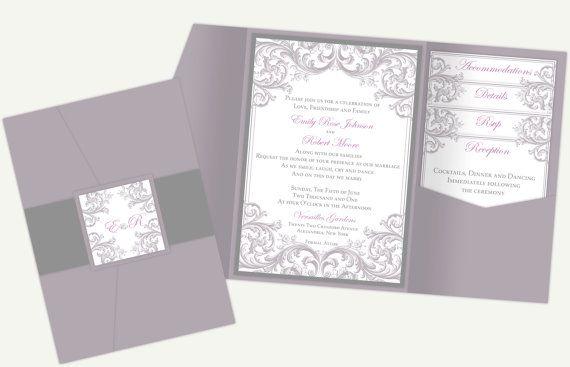 Diy Printable Wedding Pocket Invitation Template Printable Pocket