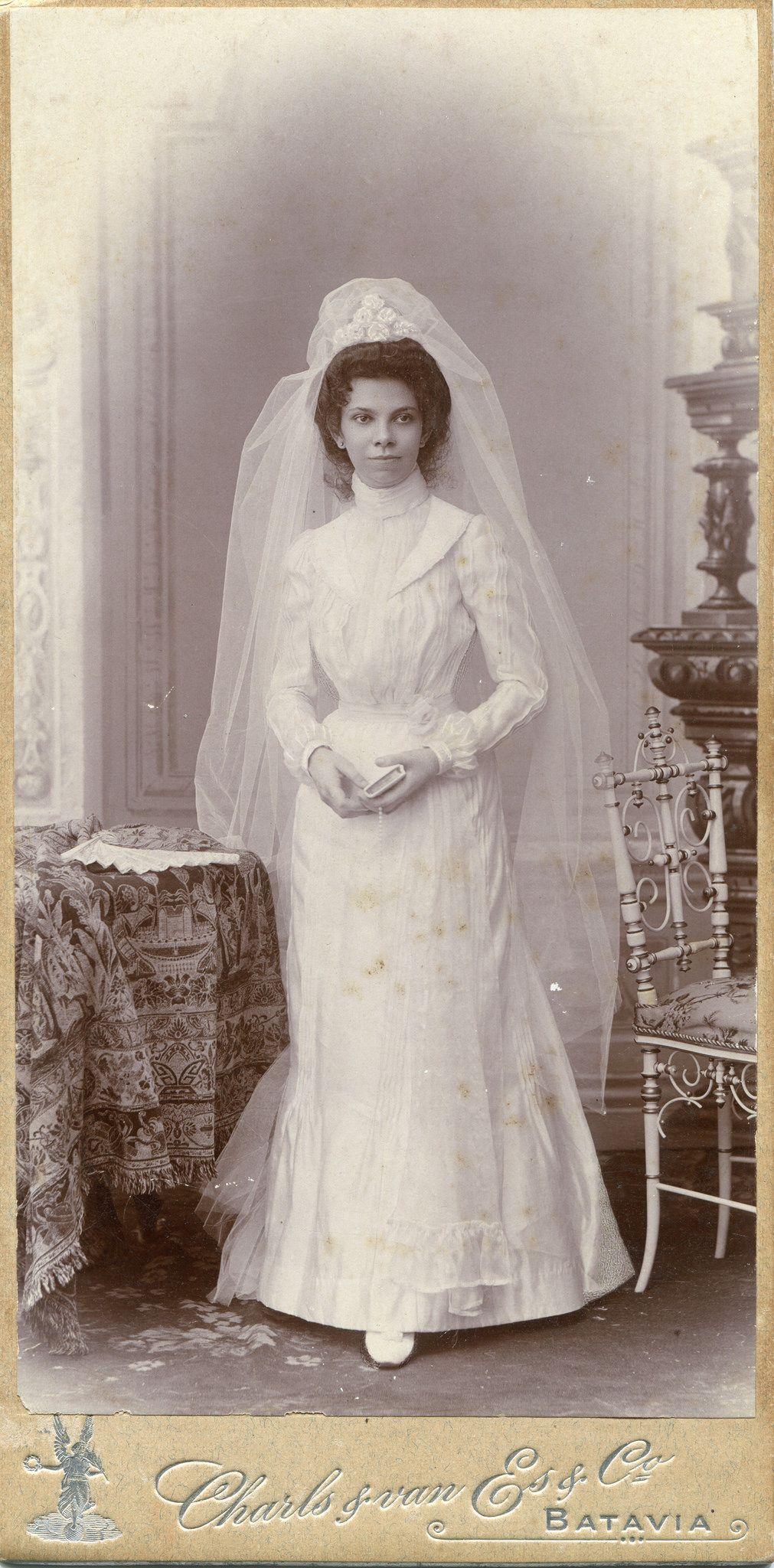 CAB Portrait of a young bride - Dutch East Indies - c.1900 ...