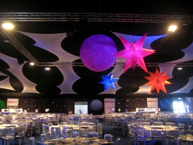 Inflatable planets for space theme events in 2019 space for Outer space decor