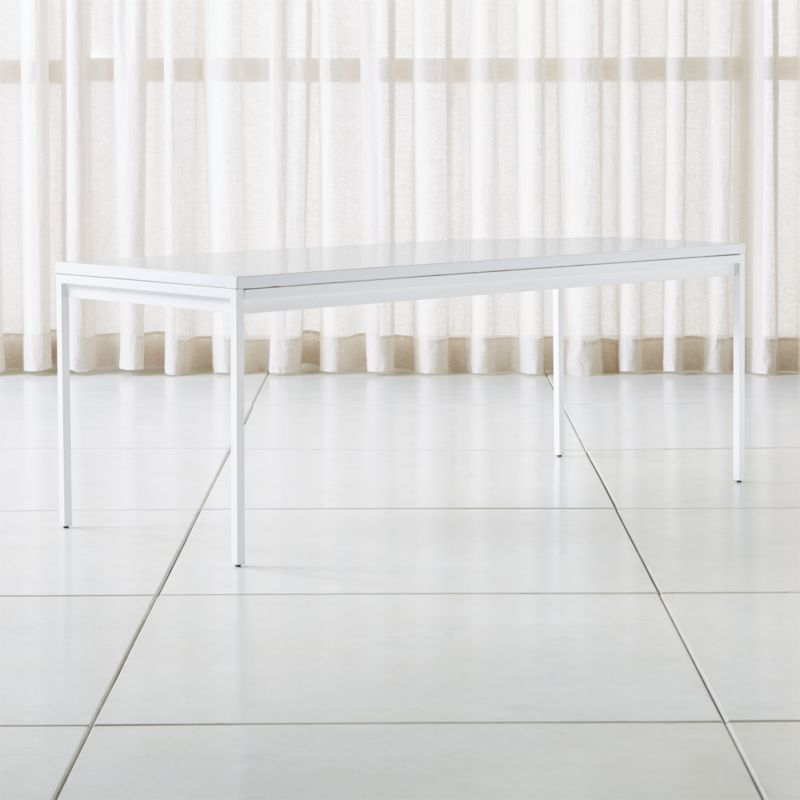 Casement White Solid Surface Dining Table Reviews Crate And Barrel With Images French Country Decorating Casement Dining Table