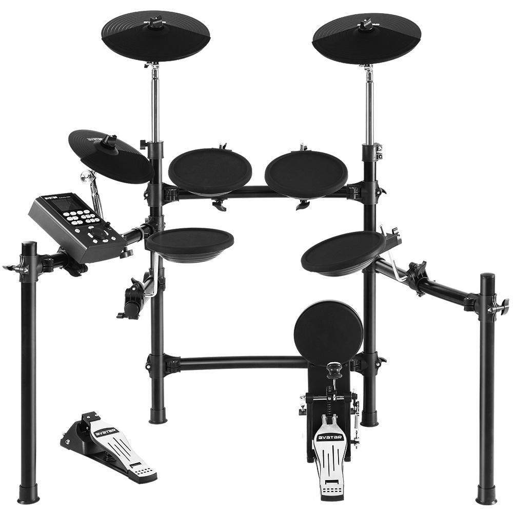 8 Piece Electric Electronic Drum Kit Drums Set Pad Tom